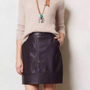 ANTHROPOLOGIE Vanessa Virginia Vegan Leather Skirt